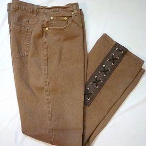 Diane Gilman Size 14 Brown Bootleg Jeans